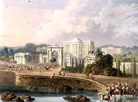 The British Residency at Hyderabad in 1813, from Volume II of 'Scenery, Costumes and Architecture of 1830