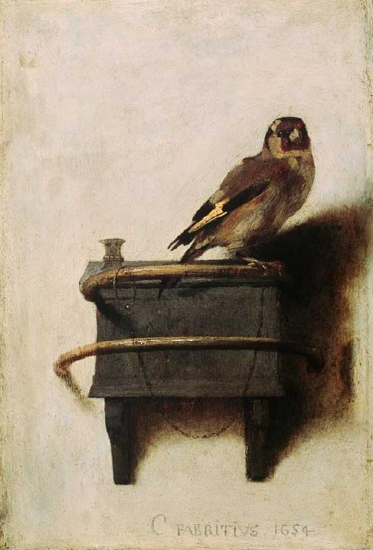 C.Fabritius, The goldfinch / 1654