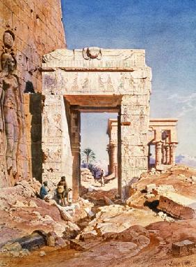 Doorway from Temple of Isis to temple called Bed of the Pharaohs, Island of Philaea, Egypt