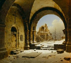 Cloister Ruins in Winter 1850
