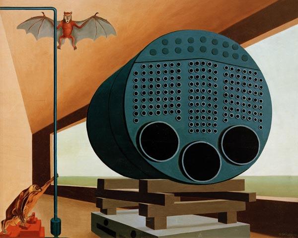 Dampfkessel mit Fledermaus, 1928. - Carl Grossberg als Kunstdruck ...