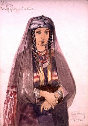 Hassin, the Wife of a Syrian Bedawee 1859  on