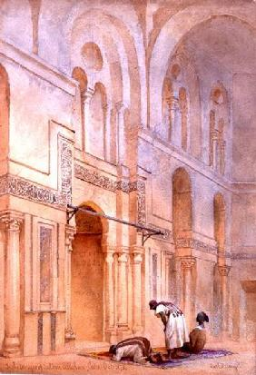 In the Mosque of Sultan Allahoon, Cairo 1873 cil a