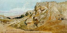The Northern Wall of Jerusalem 1859  on