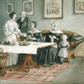 Professor Johannes Classen (1805-91) and Family 1840  on