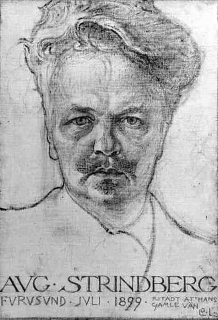 The Author <b>August Strindberg</b> (1849-1912) - Carl Larsson als Kunstdruck oder ... - author_august_strindberg_1849_hi