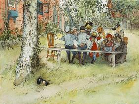 Breakfast under the Big Birch, from 'A Home' series c.1895  on