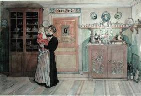 Between Christmas and New Year, from 'A Home' series c.1895  on