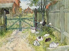 The Gate, from 'A Home' series c.1895  on