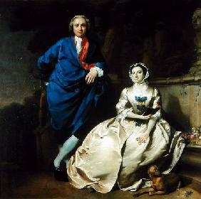 Portrait of George Michael Moser and his wife, Mary Moser c.1742