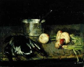 Still life with casserole and wild duck 1885
