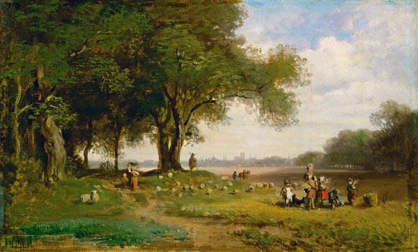 Landschaft Vor München Mit Schäfer Carl Spitzweg Als Kunstdruck
