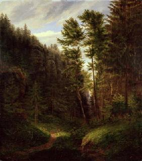 Clearing in the Uttenwald Region, 1820 (oil on canvas) 1848