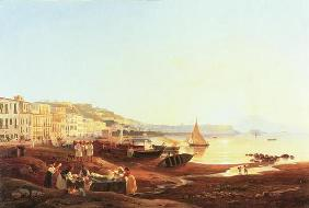 Mergellina Harbour, c.1831 (oil on canvas) 1612