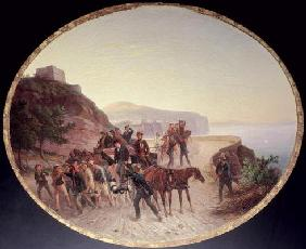 The Capture of Guido Edmondo, c.1864 (oil on canvas on wood) 1841