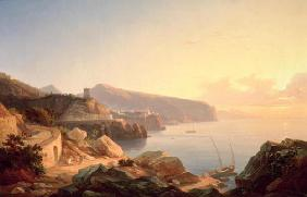 The Gulf of Sorrento, near Vico, c.1855 (oil on canvas) 1840