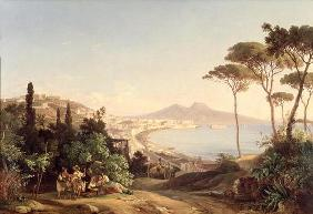 View of Naples, 1837/38 (oil on canvas) 1858