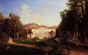 Villa Pignatella, Riviera di Chiaia, Naples, c.1845 (oil on canvas) 19th
