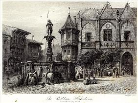 The Rathhaus, Hildesheim; engraved by J.J. Crew, printed Cassell & Company Ltd