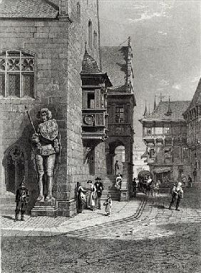 Town Hall, Halberstadt; engraved by E. Joubert, printed Cassell & Company Ltd