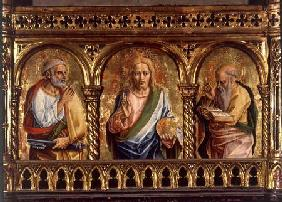 Christ with St. Peter and St. Paul, detail from the Sant'Emidio polyptych