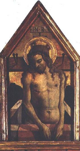 The Resurrected Christ, detail from the San Silvestro polyptych 1468