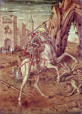 St. George and the Dragon, scene from the predella panel of the ''Madonna della Rondine'' altarpiece