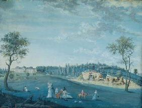The Rocks, Parc du Raincy (gouache on paper) 1776