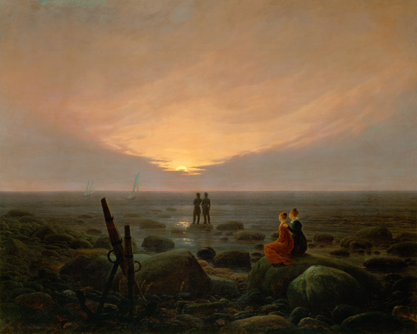 mondaufgang am meer caspar david friedrich als. Black Bedroom Furniture Sets. Home Design Ideas