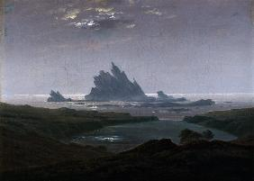 Caspar David Friedrich - Felsenriff am Meeresstrand