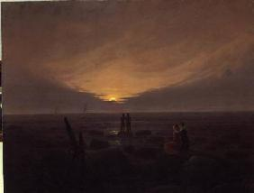 Moon Rising Over the Sea 1821