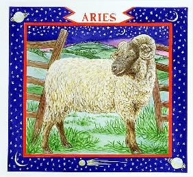 Aries (w/c on paper)