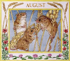 August (w/c on paper)