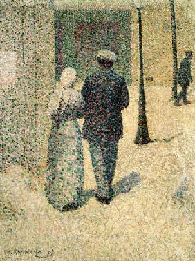 A Couple in the Street 1887