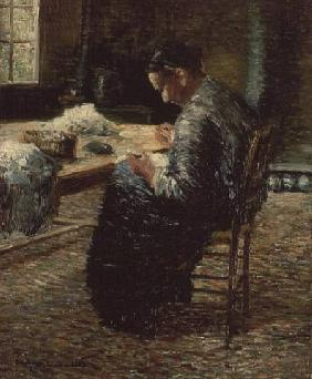 Portrait of the Artist's Mother Sewing 1885