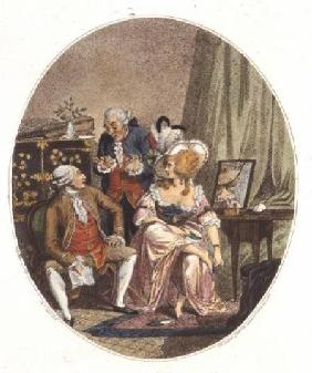 The French Dressing Room, engraved by P.W. Tomkins (1760-1840)