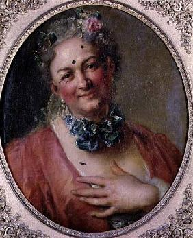 Portrait of the Singer Pierre de Jelyotte (1713-97) in Female Costume c.1745