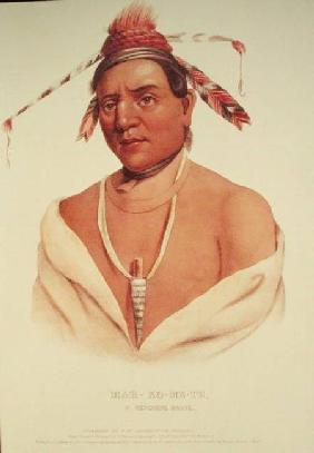 Portrait of Mar-Ko-Me-Te, A Menomene Brave 1838