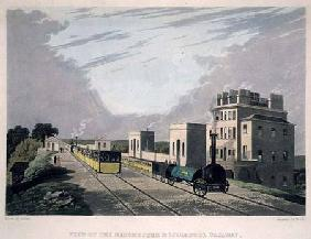 View of the Manchester and Liverpool Railway, taken at Newton, 1825, engraved by Havell