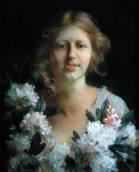 Portrait of a Lady with Flowers 1914
