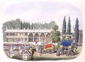 The Palace of Tippoo Sahib (1749-99) engraved by Thomas Hall for 'Oriental Drawings' pub. 1806