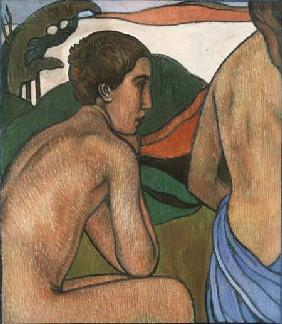 Seated Male Nude in a Landscape c.1889-90
