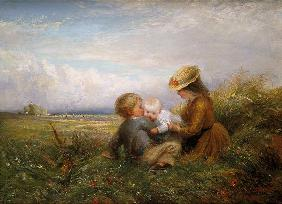 Children in a Field 1875