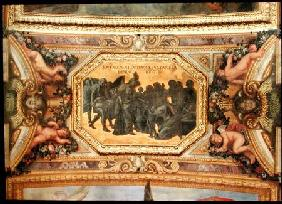 Helping the People during the Famine of 1662, Ceiling Painting from the Galerie des Glaces