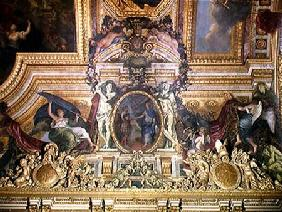The Renewal of the Alliance with the Swiss in 1663, ceiling painting from the Galerie des Glaces