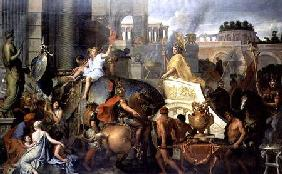 The Triumph of Alexander, or the Entrance of Alexander into Babylon c.1673