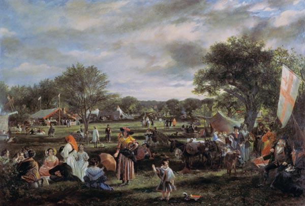 Fairlop Fair (oil on canvas) 14th