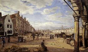 The Grande Place d'Arras on Market Day 1878