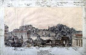 The Reconstruction of Ancient Rome at the Time of the Antonines c.1819  &