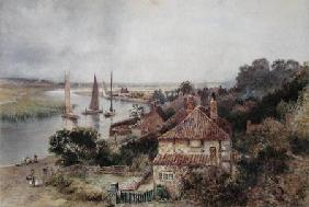 On the River Yare c.1880  on
